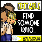 Editable Find Someone Who: Back to School Edition