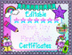 Editable Beginning of the Year Certificates (Unicorn Theme)