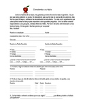 Spanish Editable Beginning of the Year Parent Questionnaire