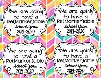 Editable Beginning of the Year Teacher Tags