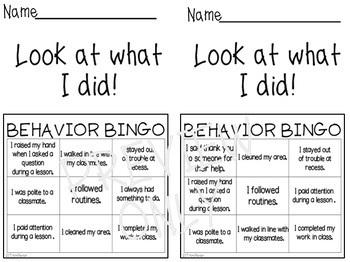 DIGITAL and PAPER Editable Behavior Bingo
