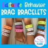 Editable Behavior Brag Bracelets