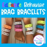 Editable Good Behavior Brag Bracelets