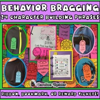 Editable Behavior Brag Ribbons: Positive Classroom Management