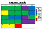 Editable Behavior Calendar 2016-2017