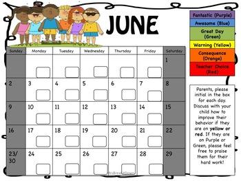 Editable Behavior Calendar and Clip Chart Bundle