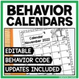 Monthly Behavior Calendars 2021-2022