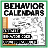Editable Behavior Calendars 2021-2022