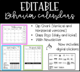 Editable Behavior Calendars for Clip Chart and Class Dojo