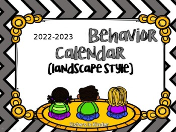 Editable Behavior Calendars for Take Home Folders