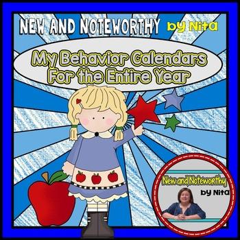 Behavior Calendars for the Entire Year (Editable)