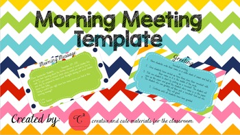 Rainbow Morning Meeting Template