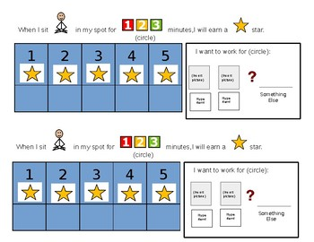 Editable Behavior Chart