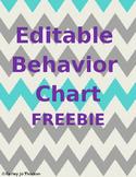 Editable Behavior Chart Freebie