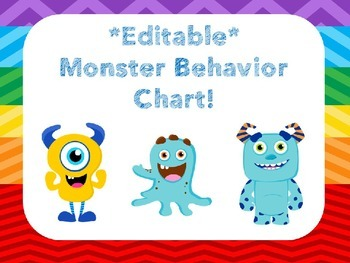 Colorful Editable Behavior Clip Chart