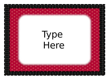 Editable Behavior Chart and classroom signs - Black and Red