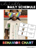 Editable Behavior Chart for Daily Schedule
