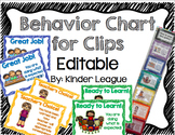 Behavior Charts (Editable)- Behavior Management System by Kinder League