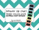 Editable Behavior Clip Chart {Bright Chevron Print}