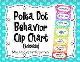 Polka Dot Behavior Clip Chart (Editable)