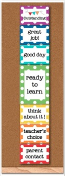 *Editable* Behavior Clip Chart - Rainbow Polka Dot - Classroom Management