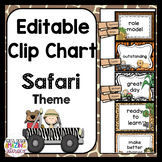 Editable Behavior Clip Chart  ~ Safari Theme