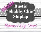 Editable Behavior Clip Chart (Shabby Chic, Barnwood, Shiplap, Chalk)