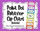 Editable Behavior Clip Chart (Small Polka Dots)