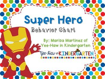 Editable Behavior Clip Chart-Super Hero