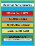 Editable Behavior Consequences & Rewards Chart - Lime & Teal