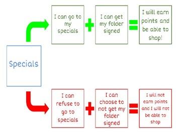 Editable Behavior Contingency/Flow Charts