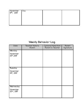 Editable Behavior Log