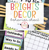 Editable Behavior Plan {Brights Classroom Set}