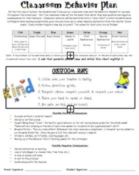 Editable Behavior Plan (Word)