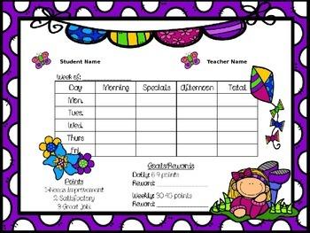 Editable Behavior Plans for Individual Students FREEBIE