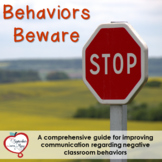 Editable Behavior Slip, Reflections, Contracts, and More!