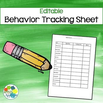Editable Behavior Tracking Sheet
