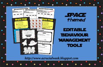 Editable Behaviour Management Tools (Space-themed)
