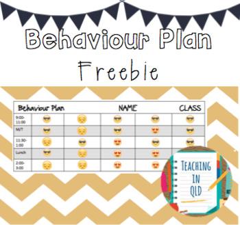 Editable Behaviour Plan FREEBIE