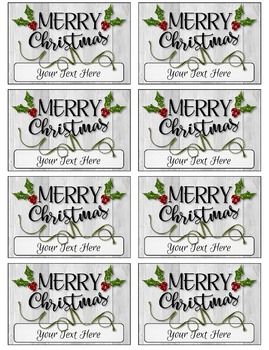 Editable Believe and Merry Christmas Gift Tags