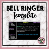 Editable Bellringer Template