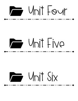 Editable Big File Folder Labels