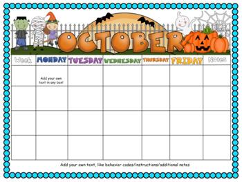Editable Bilingual Calendar
