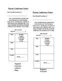 Editable Bilingual Parent Conference Notice