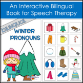Editable Winter Pronouns Booklet - Bilingual