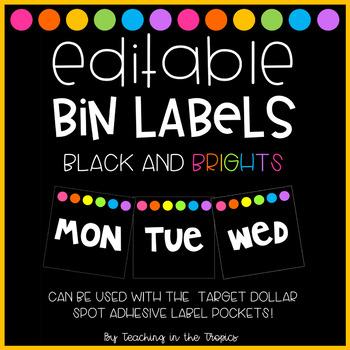 Editable Bin Labels