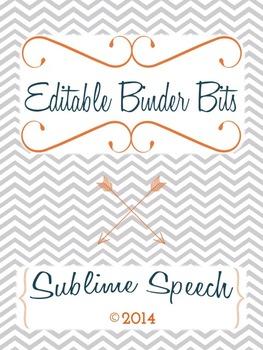 Editable Binder Bits