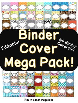 Editable Binder Cover Mega Pack