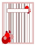Binder Cover - Pink and Red Dots and Stripes