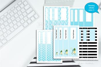 "Editable Binder Cover. Printable Set of 5. 8.5""x11"". Editable Planner cover."